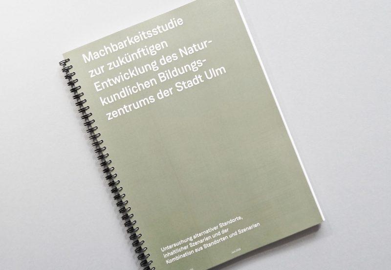Das Foto zeigt die Machbarkeitsstudie für das Naturkundliche Bildungszentrum Ulm